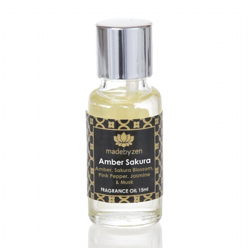 AMBER SAKURA - Signature Scented Fragrance Oil Made By Zen 15ml